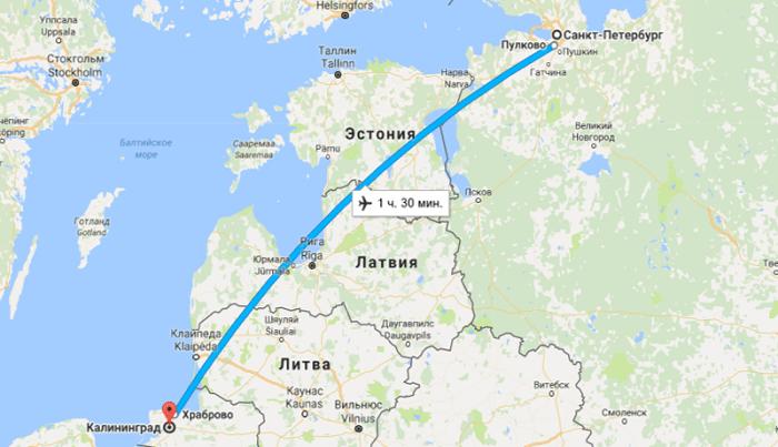 Прямой перелет из Санкт-Петербурга