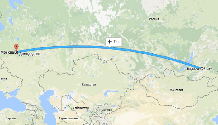 Цены на рейс Чита-Москва