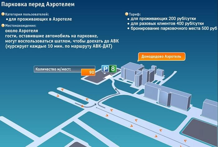 Как узнать стоимость парковки в Домодедово