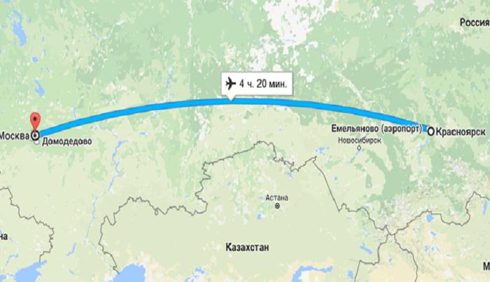 Сколько стоит билет на самолет от Красноярска до Москвы