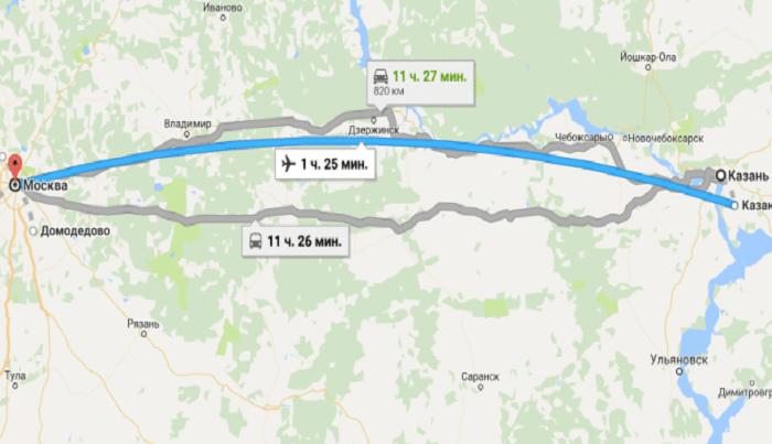 Сколько стоит авиаперелет Москва – Казань