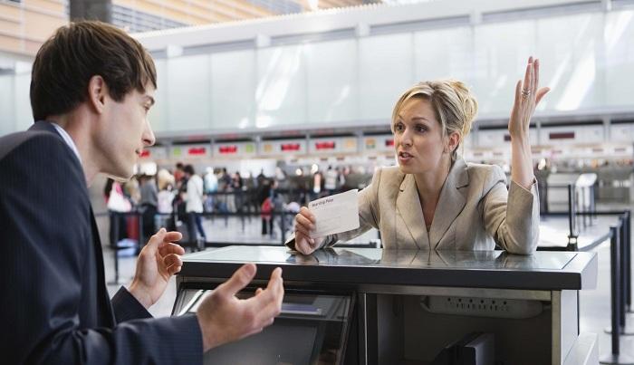Действия в аэропорту сразу после покупки