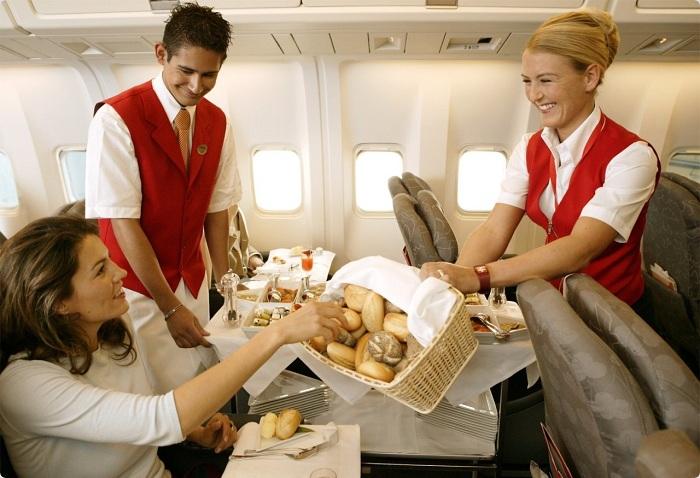 Еда во время авиаперелета
