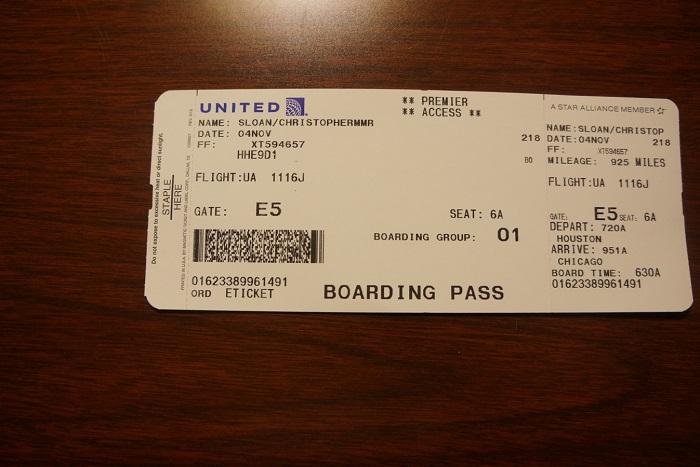 Электронная квитанция на посадку
