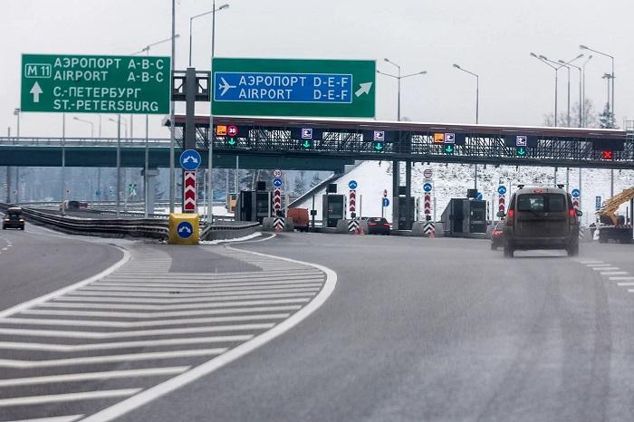 Дорога в аэропорт Санкт-Петербурга
