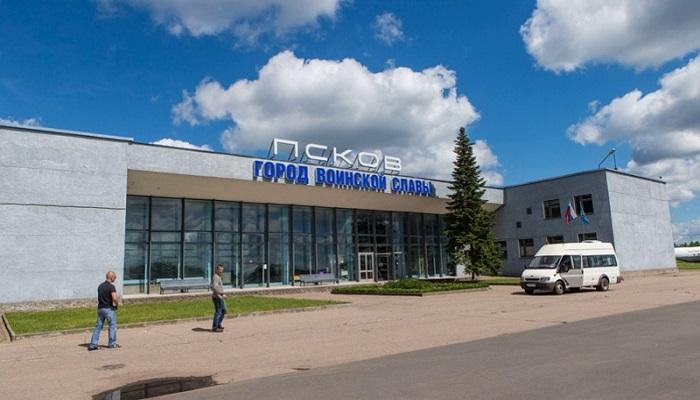 Работа аэропорта Псков