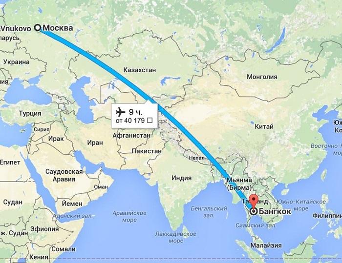 Перелет Москва – Таиланд и обратно