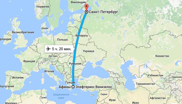 Летим из Петербурга в Грецию