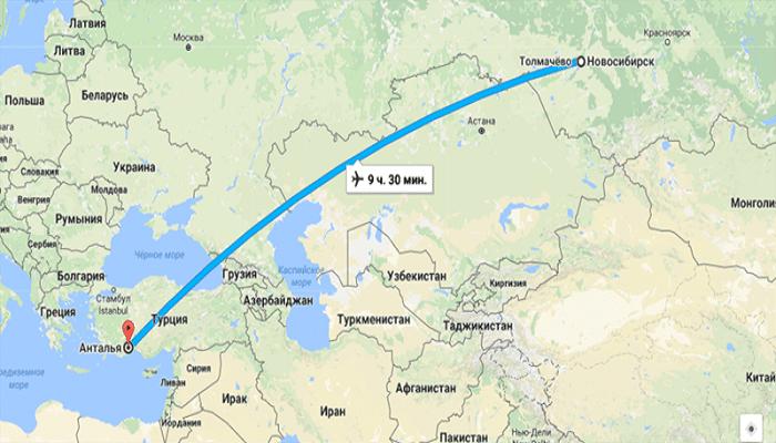 Информация о прямых рейсах из Новосибирска в Анталию