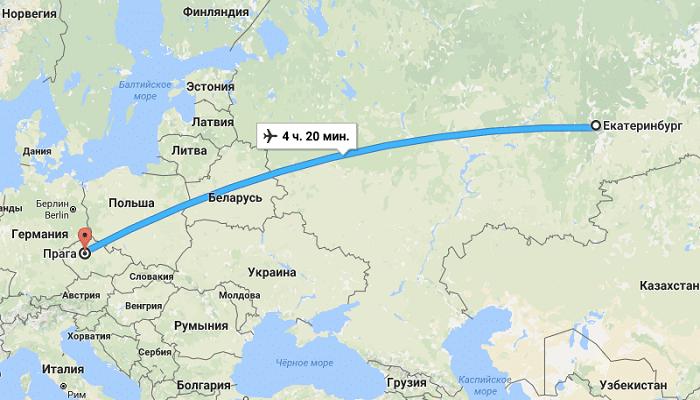 Путешествие из Екатеринбурга в чешскую столицу