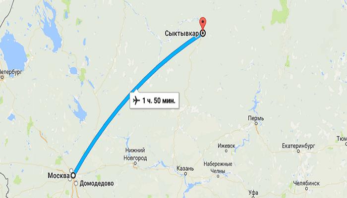 Как быстро попасть в Сыктывкар