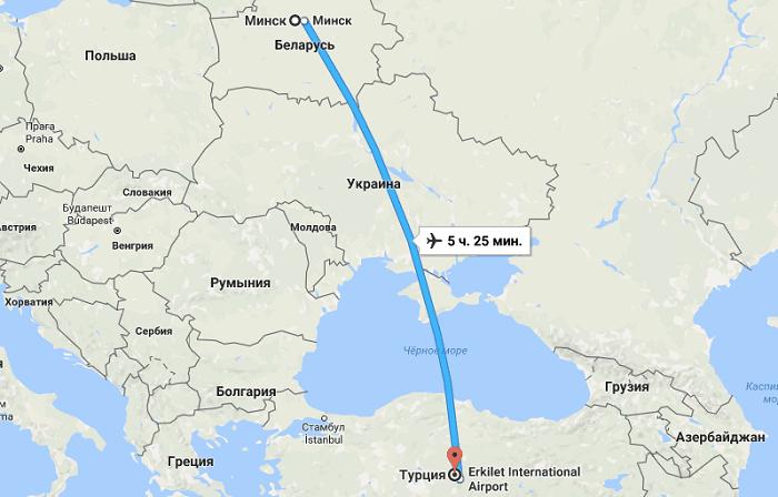 Важные сведения о рейсе Минск — Турция