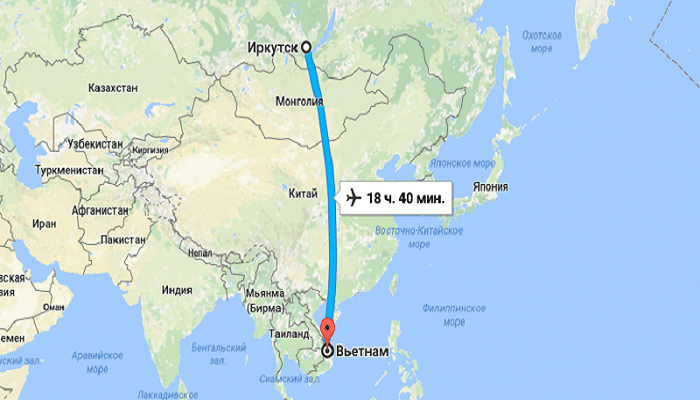 Перелеты во Вьетнам прямым рейсом