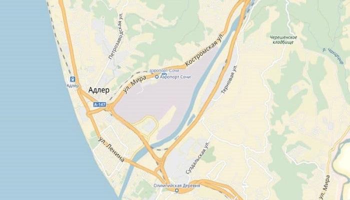 Где находится аэровокзал на карте