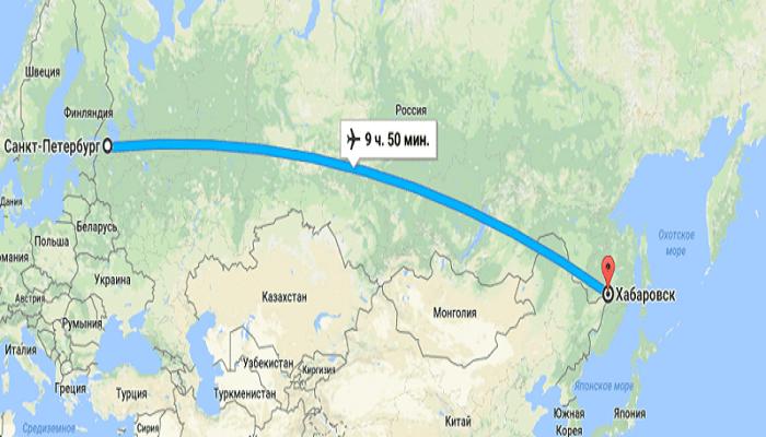 Полеты в Хабаровск