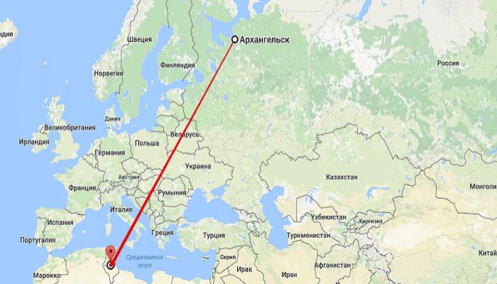 Отправляясь в Тунис из Архангельска