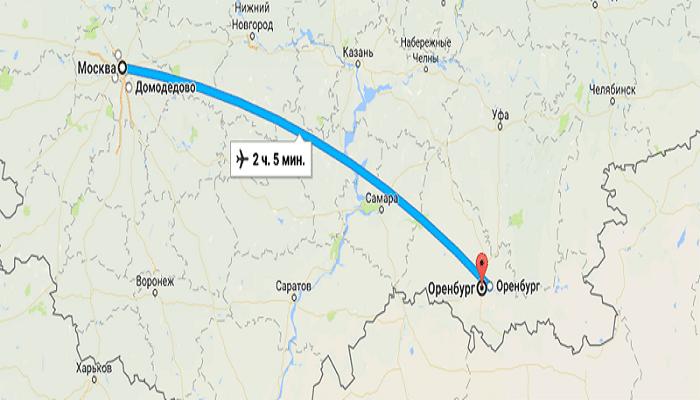 Как добраться до Оренбурга из Москвы