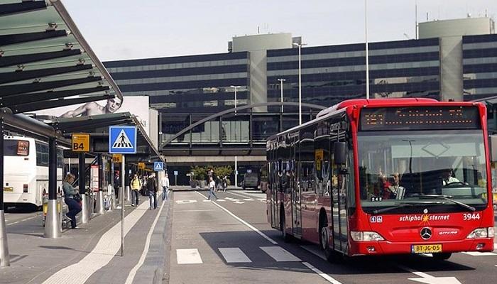 Из Схипхола до Амстердама автобусным транспортом