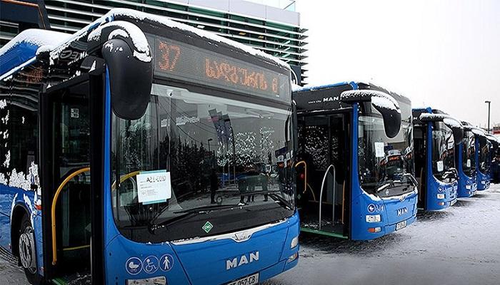 Едем в центр на автобусе