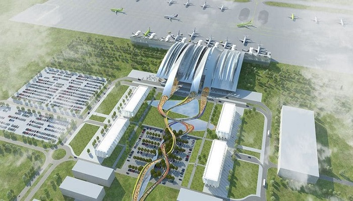 Расположение инфраструктуры аэродрома