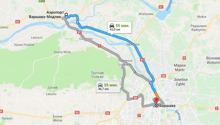 Транспортное сообщение с городом