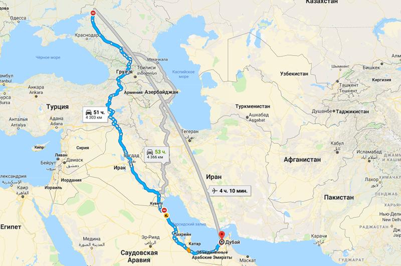 Сколько лететь из Ростова в Дубай