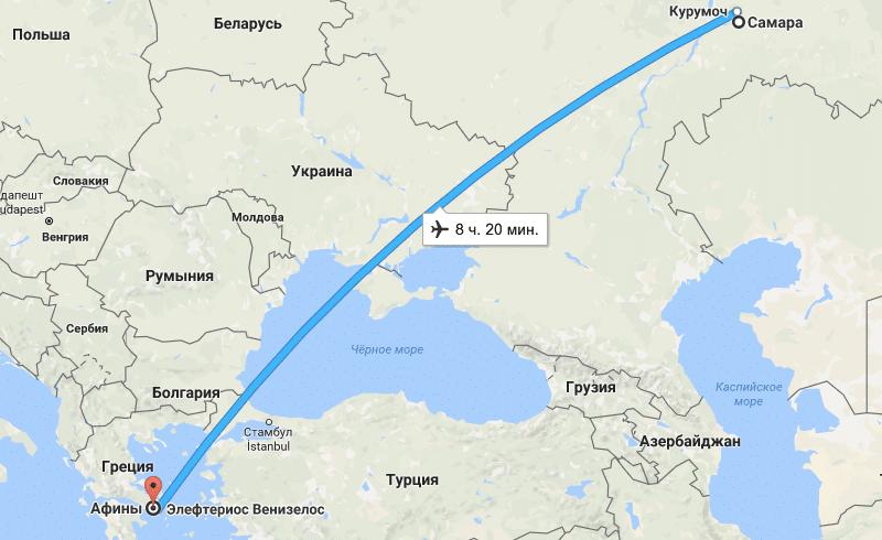 Сколько лететь до Кипра из Ростова