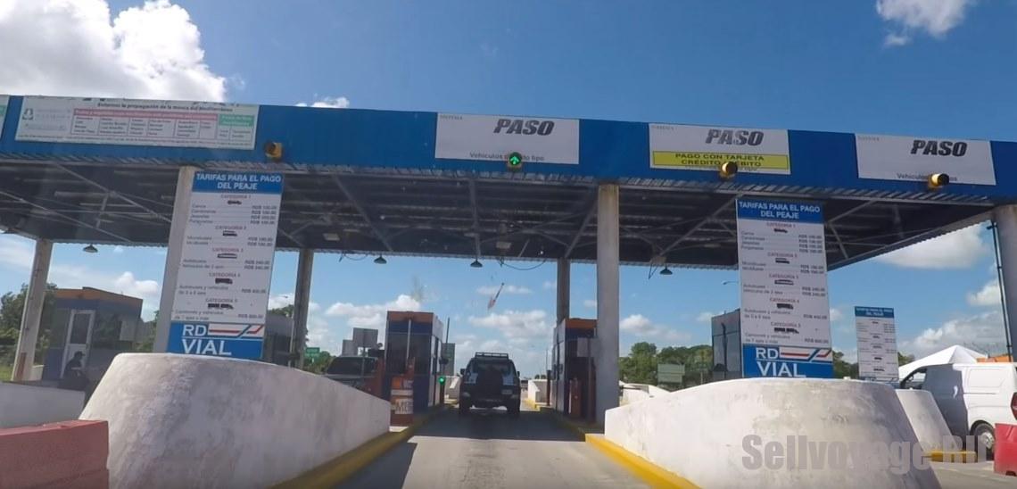 Пункт оплаты дорог в Доминикане