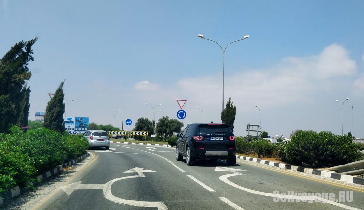 Дорожная разметка на Кипре