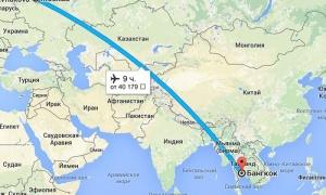 Сколько лететь до Тайланда из Москвы