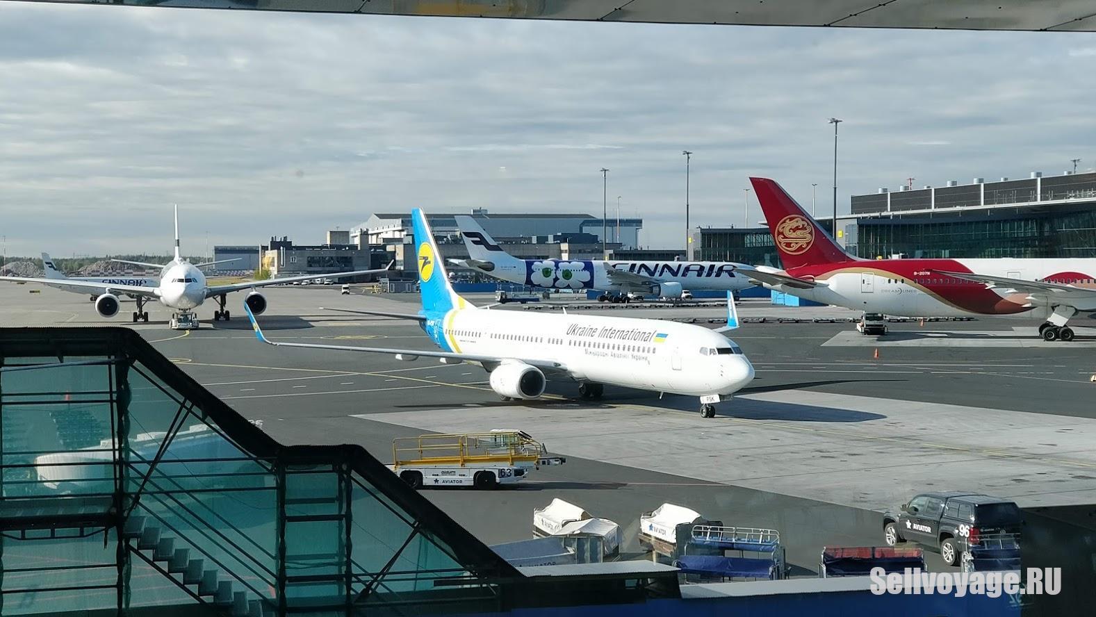 Вид из окна аэропорта Хельсинки