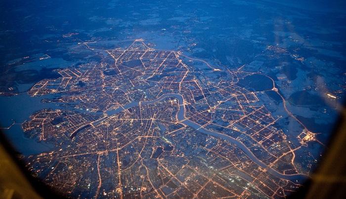 Время перелета до Санкт-Петербурга