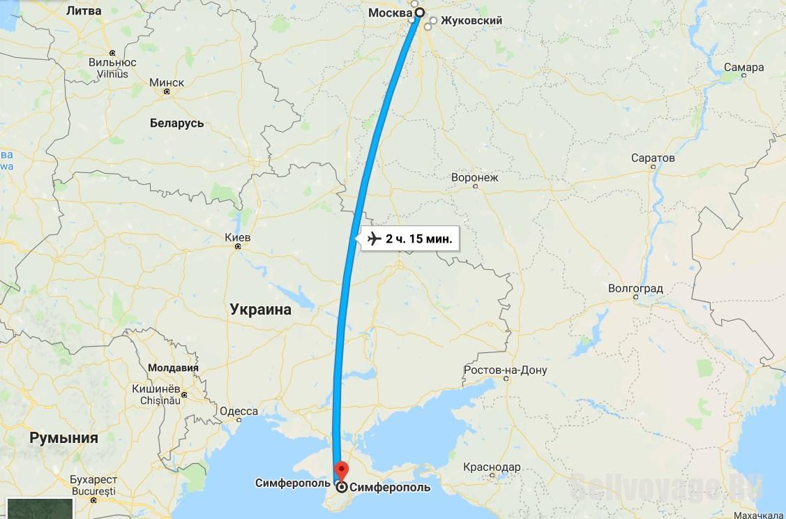 Дешевые авиабилеты Москва - Симферополь. Заглавная картинка к статье