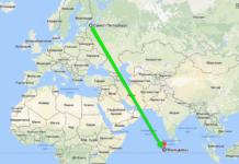 Время перелета по направлению Санкт-Петербург - Мальдивы