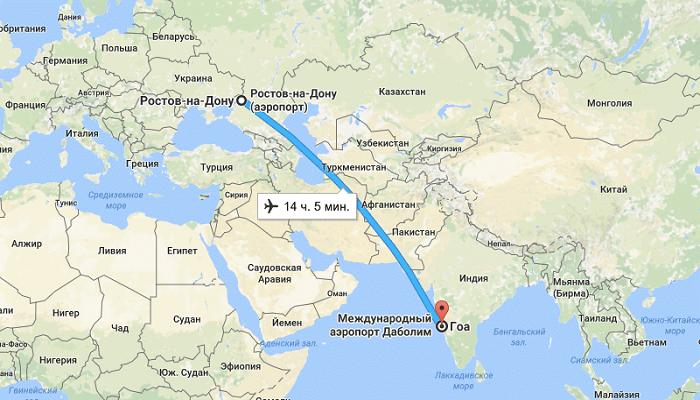 Особенности перелета Ростов – Гоа