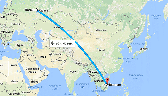 Какова примерная длительность путешествия