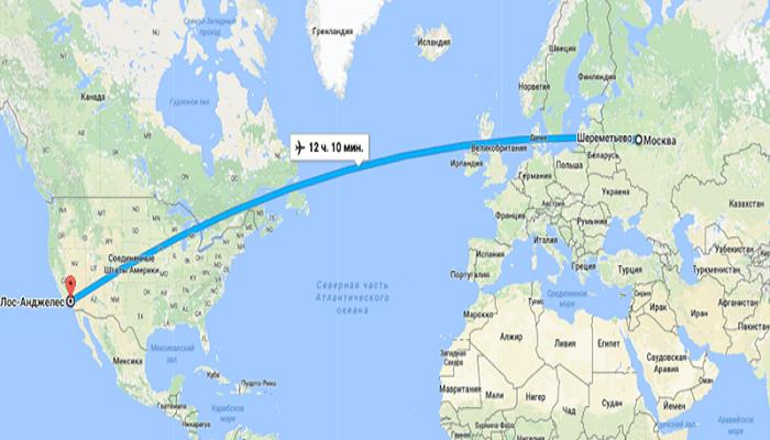 Рейсы прямого маршрута до США