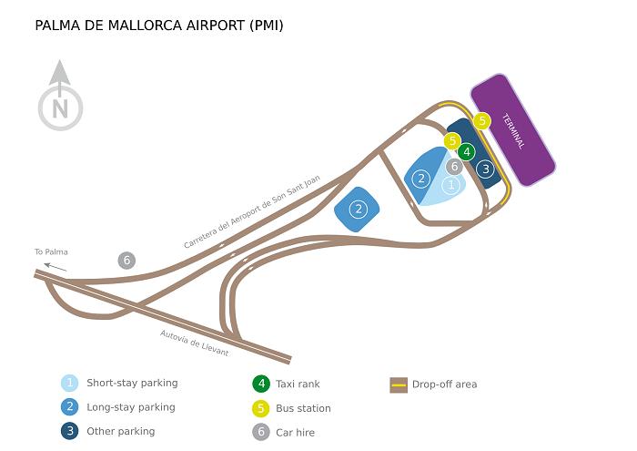 Терминалы аэровокзала на Майорке в Испании