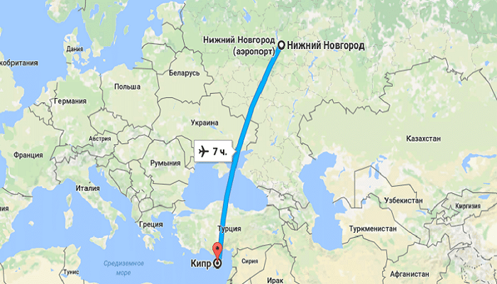 Время перелета до ларнаки из москвы и регионов.