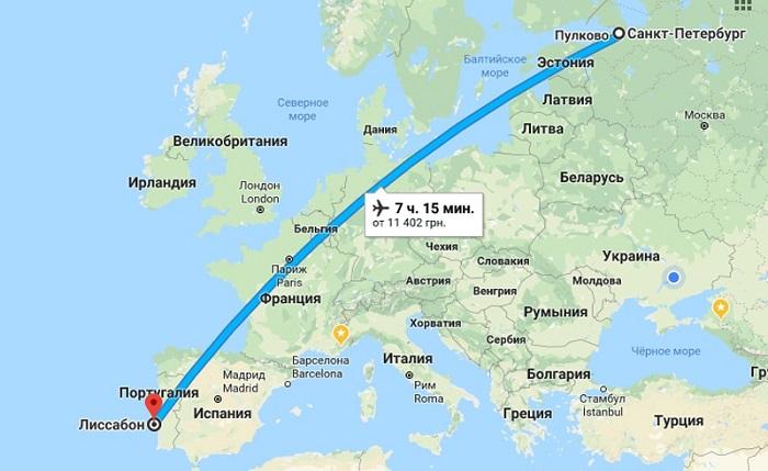 Информация о рейсах из северных областей России