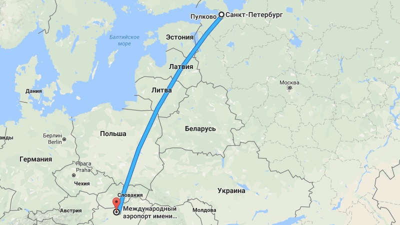 Специфика путешествия Санкт-Петербург - Будапешт