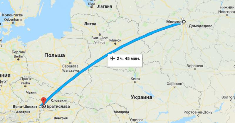Как быстро долететь до Словакии