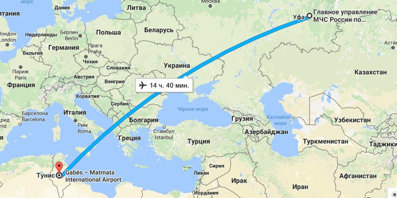 Как долететь из Уфы в Тунис