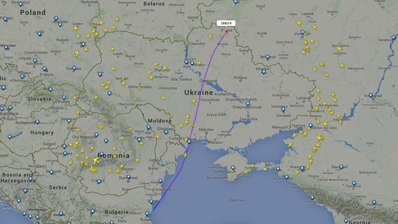 Полет по маршруту Москва — Болгария