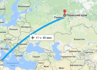 Прямые полеты Пермь — Тунис