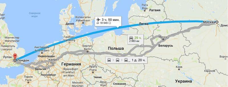 Особенности прямых перелетов из Москвы