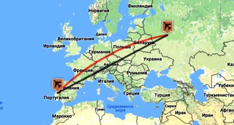 Прямые перелеты из Москвы