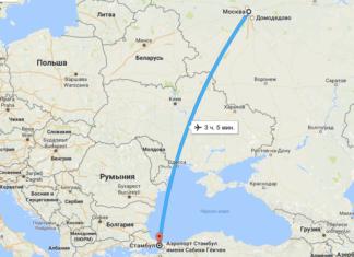Сколько лететь до Стамбула из Москвы