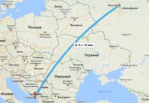 Сколько лететь до Тивата из Москвы