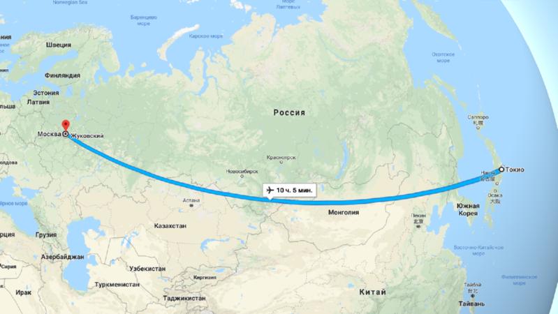 Сколько лететь до Токио из Москвы прямым рейсом